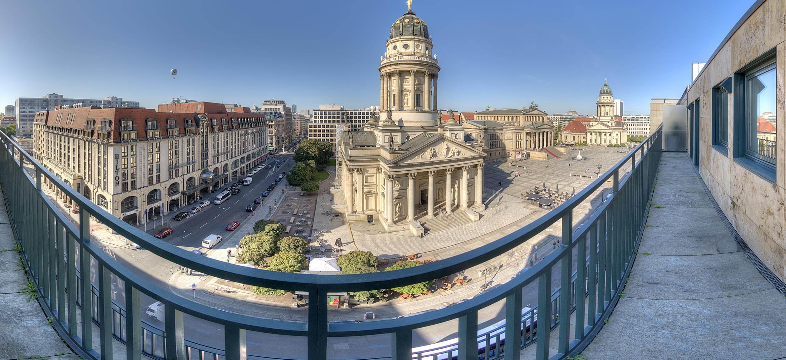 Virtuelle 360°-Tour Penthouse am Gendarmenmarkt für MARAX Immobilien
