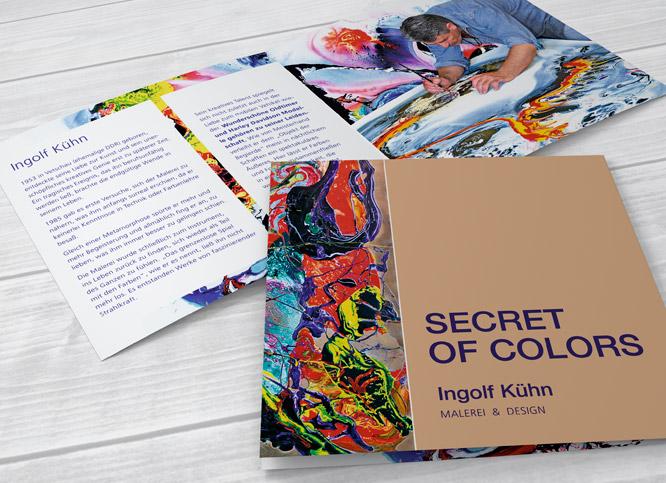 Printdesign Flyer für Künstler Ingolf Kühn