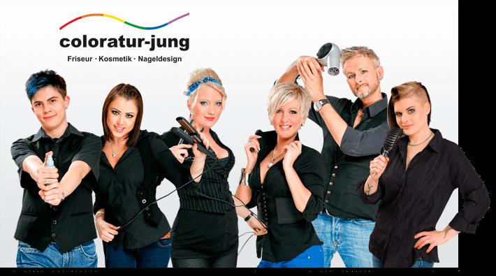 Flexibles Team-Bild Friseursalon Coloratur Jung Berlin