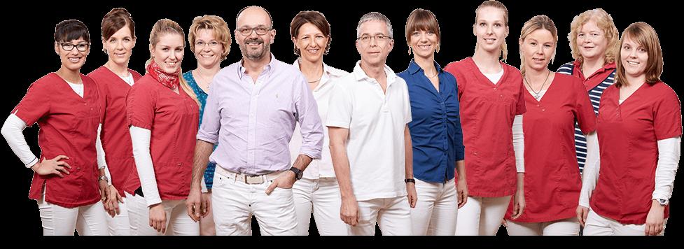 Webdesign - Flexibles Team-Bild für die Webseite Gemeinschaftspraxis FERA in Berlin