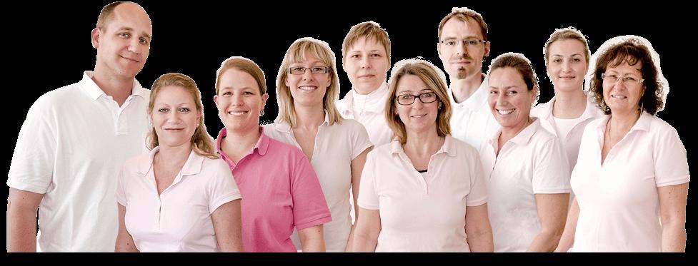 Webdesign - Flexibles Team-Bild für die Webseite Zahnarztpraxis Ladewig in Berlin