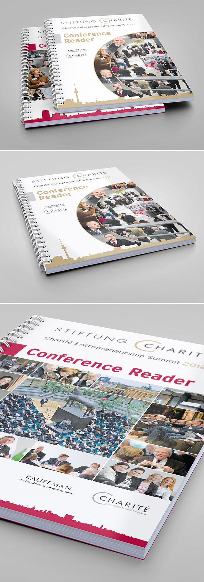 Printdesign Conference Reader Bröschüre für Stiftung Charité