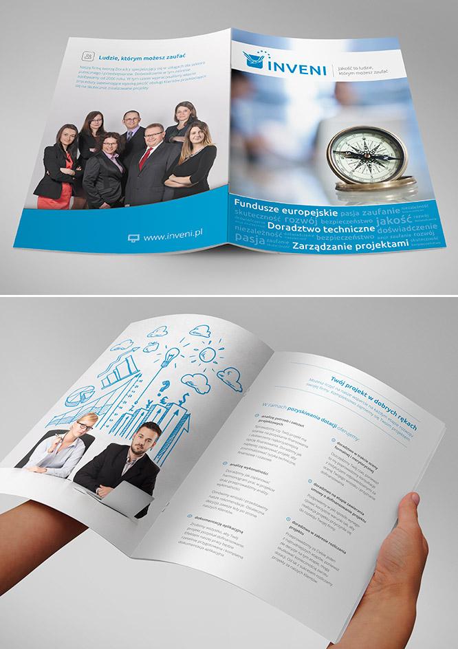 Printdesign Info-Broschüre für Inveni Consulting