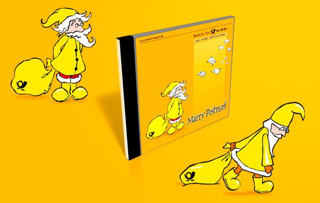 Grafikdesign und Illustration. Entwurf für einen CD-Cover für Deutsche Post