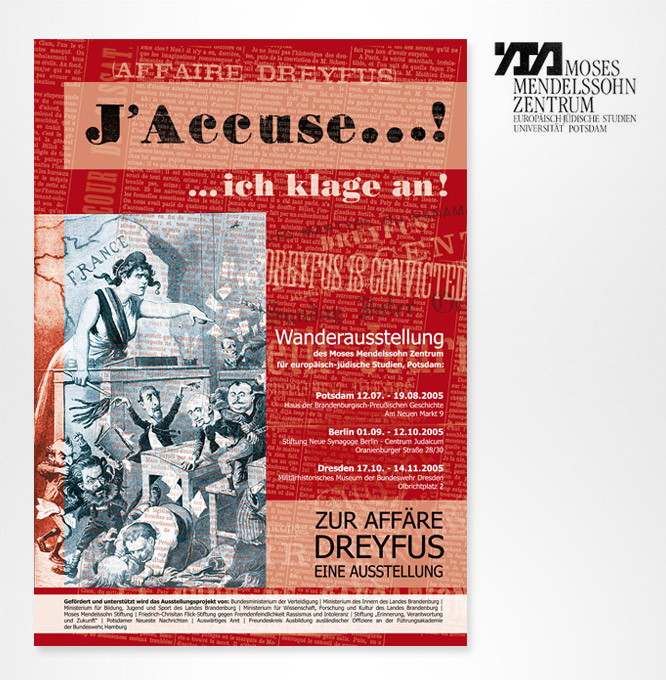 Grafikdesign Poster für Moses Mendelssohn Zentrum