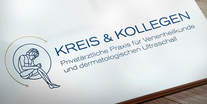 Logodesign für eine privatärztliche Praxis für Venenheilkunde