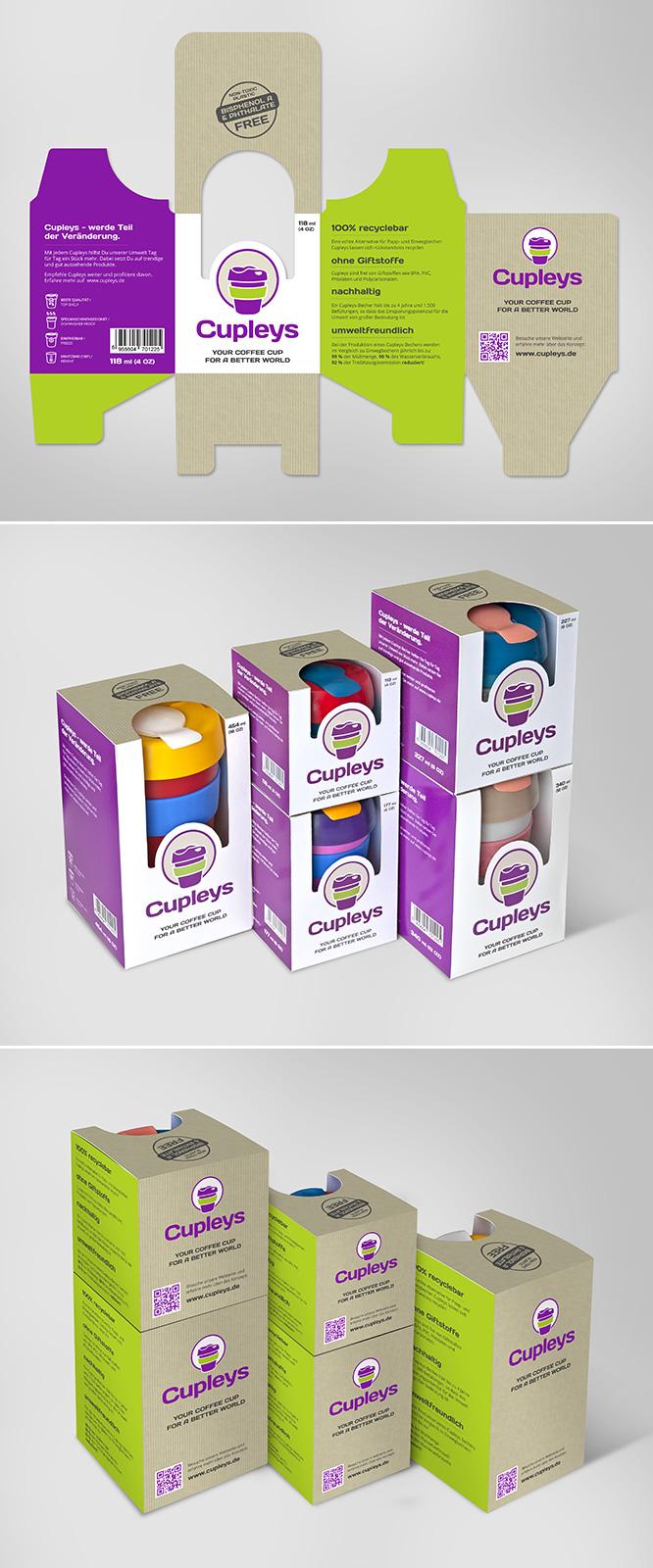 Verpackungsdesign Verpackungen für die umweltfreundlichen Kaffeebecher