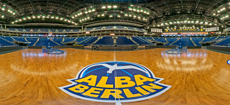 Virtuelle 360°-Tour für Alba Berlin - Mercedes Benz Arena