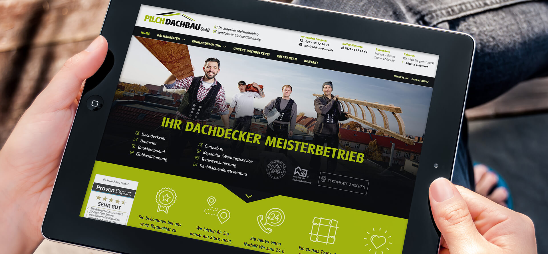 PRIMA LINE - responsive Webdesign Berlin