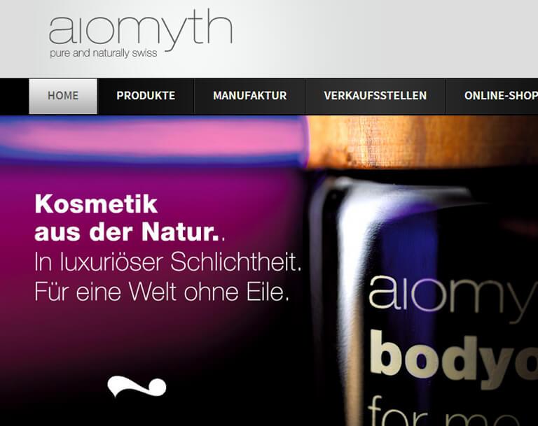Corporate Design Entwicklung für Aiomyth Schweiz