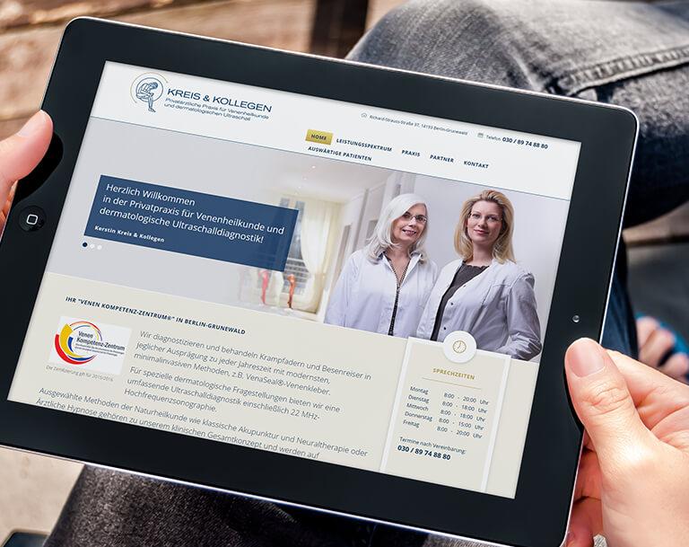 Corporate Design für Kreis und Kollegen – Praxis für Venenheilkunde