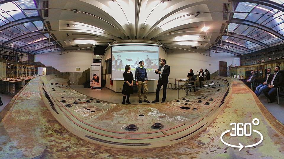"""360° Panorama der Preisverleihung """"Beste Handwerker-Webseite des Jahres"""" Prima Line"""