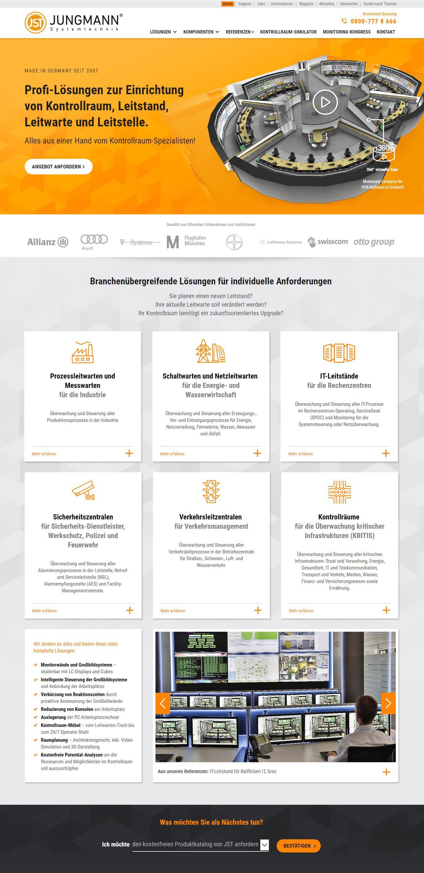 JST Website: nach dem Website Relaunch