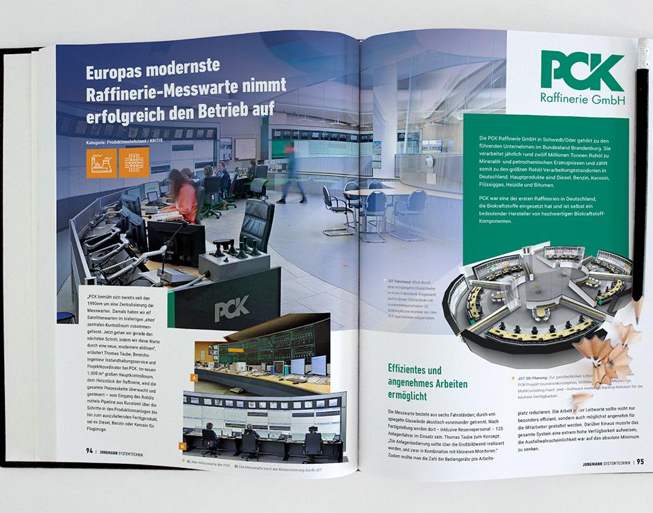 Das frische Design vom Praxisbuch für Kontrollräume - Layoutet durch PRIMA LINE Berlin