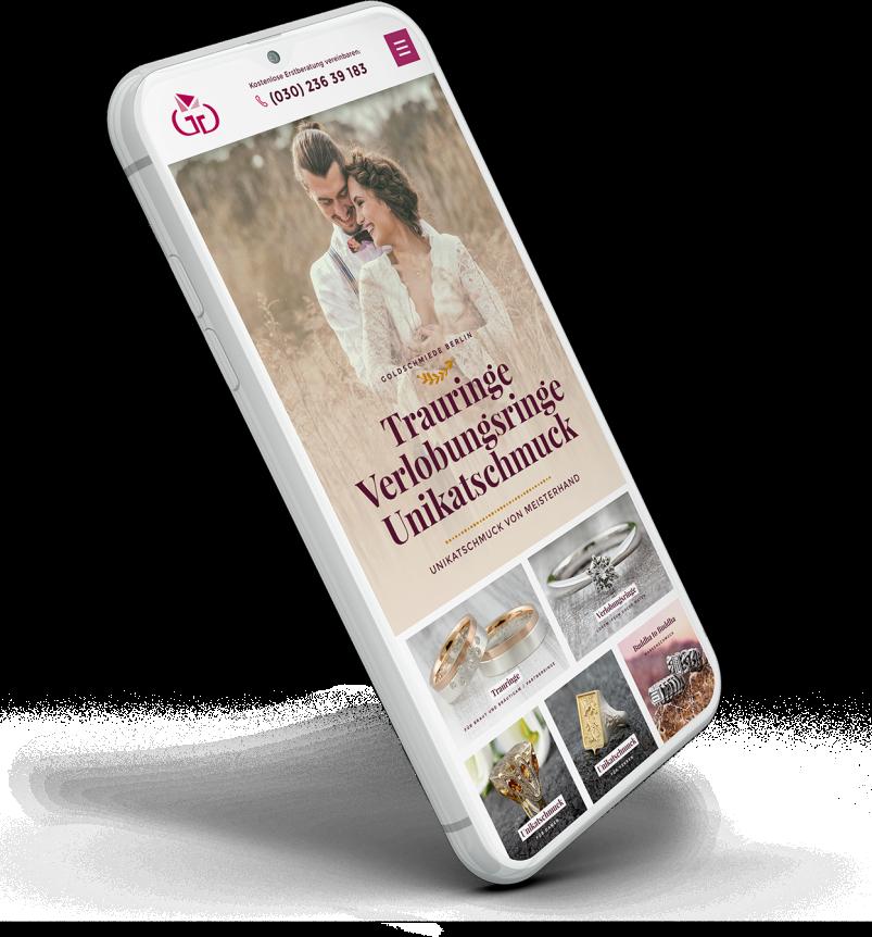 Website nach dem Relaunch auf einem mobilen Gerät