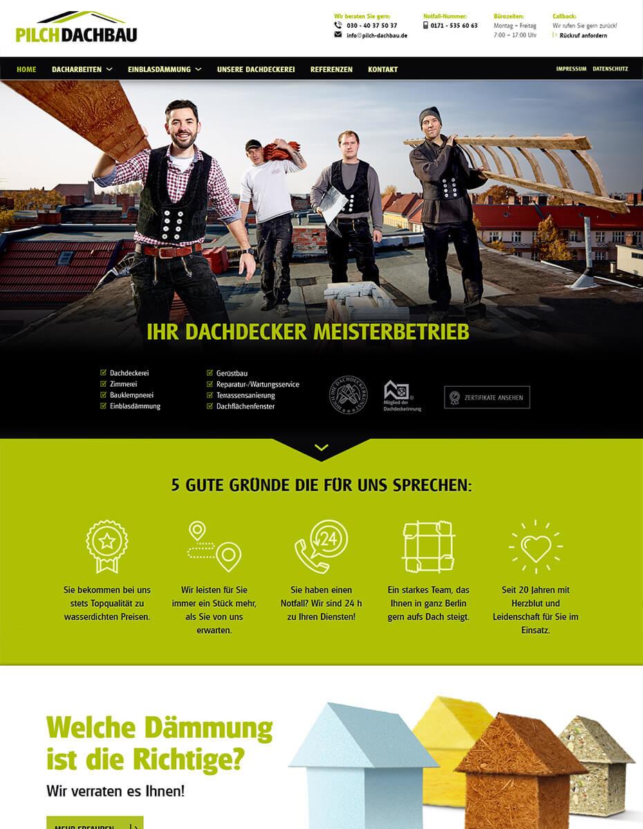 Website nach dem Relaunch - Dachdecker aus Berlin