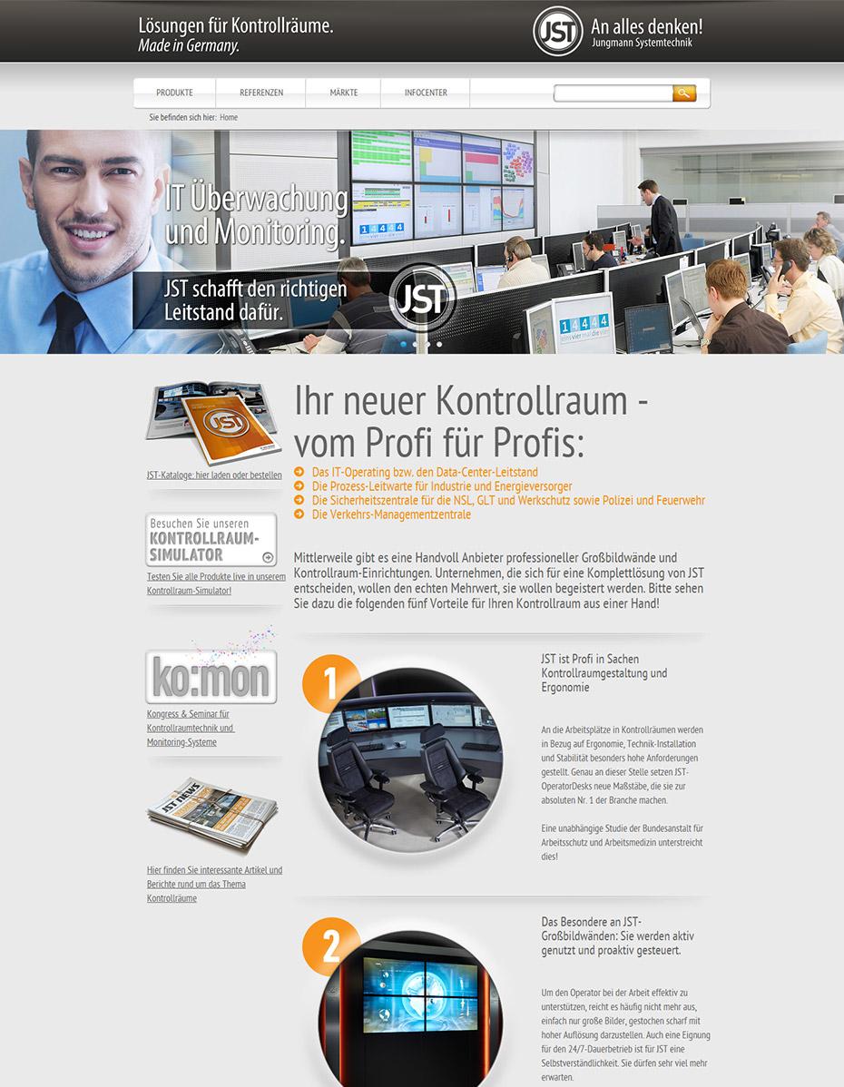 Website vor dem Relaunch - JST Jungmann Systemtechnik